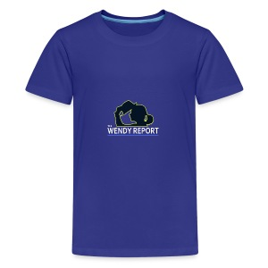 The Wendy Report Logo - White - Kids' Premium T-Shirt