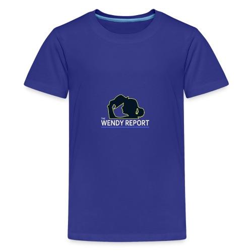 The Wendy Report Logo - White - Kids' Premium T-Shirt
