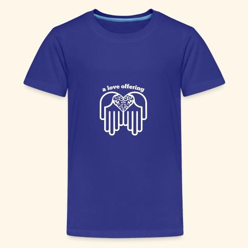 a love offering white - Kids' Premium T-Shirt