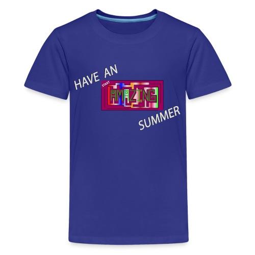 AMAZING SUMMER - White - Kids' Premium T-Shirt