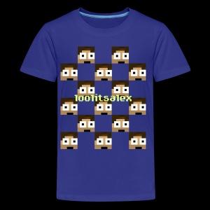 loolitsalex checker logo - Kids' Premium T-Shirt