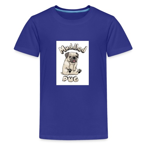 muddled-pug - Kids' Premium T-Shirt