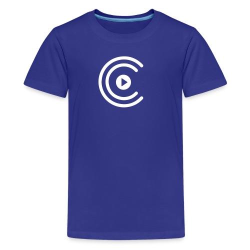 CreatiCrew Logo (White) - Kids' Premium T-Shirt