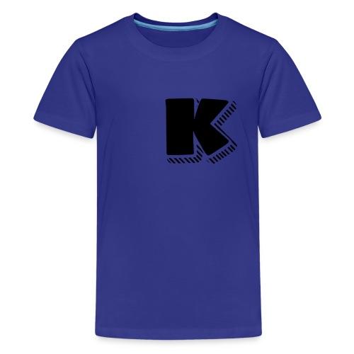 Black K - Kids' Premium T-Shirt