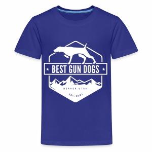 Bestgundogs logo white - Kids' Premium T-Shirt