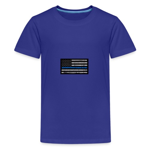 I stand behind the men in blue - Kids' Premium T-Shirt
