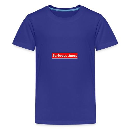 BBQ sauce on my titties - Kids' Premium T-Shirt