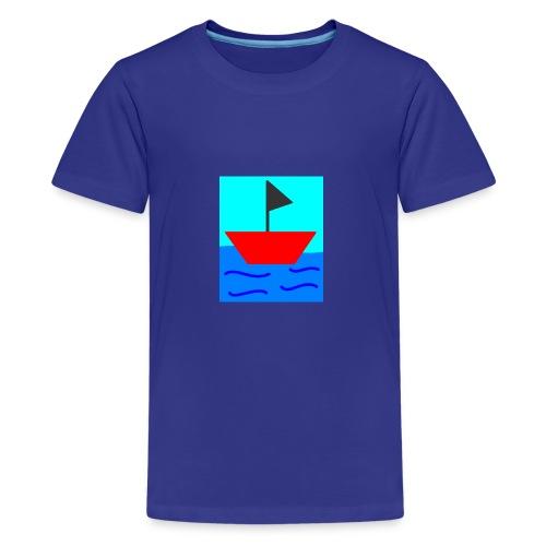 MS Paint Boat - Kids' Premium T-Shirt