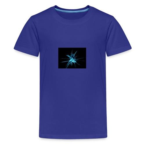 Neon blue design - Kids' Premium T-Shirt