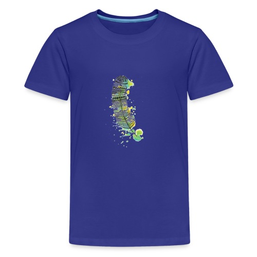 Geometric Feather - Kids' Premium T-Shirt