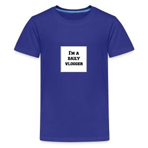 ImADailyVloggerMerch - Kids' Premium T-Shirt