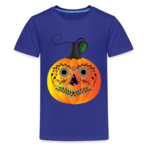 Sugar Skull Pumpkin - Kids' Premium T-Shirt