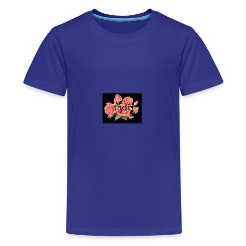t3di 6aer floral pattern - Kids' Premium T-Shirt