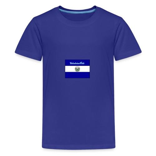 652fedbe86131b439e3b58ea82451d89 el salvador flag - Kids' Premium T-Shirt