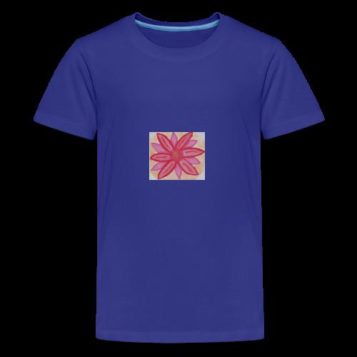 RedPinkFlower - Kids' Premium T-Shirt