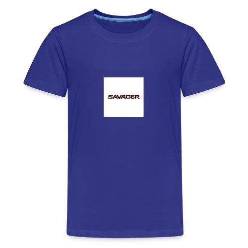 savagerRedLogo - Kids' Premium T-Shirt