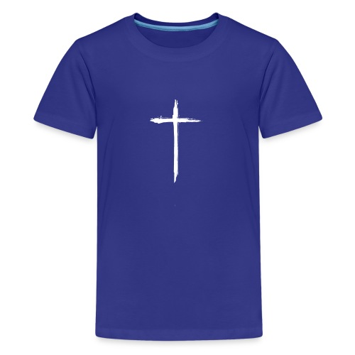 White Cross for Back of Shirt - Kids' Premium T-Shirt