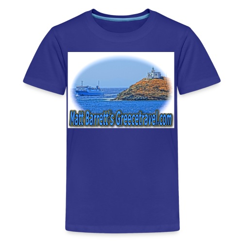 Greecetravel Ferryboat jpg - Kids' Premium T-Shirt