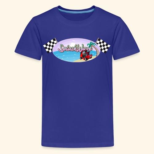 SplashWave 4 Garnet - Kids' Premium T-Shirt