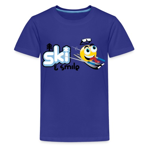 Smile And Ski - Kids' Premium T-Shirt