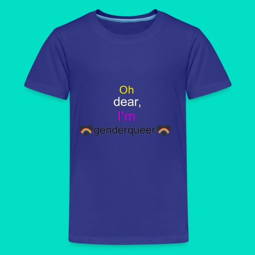 Oh Dear, I'm Genderqueer (with nonbinary colors) - Kids' Premium T-Shirt