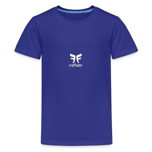 Fusion Logo White - Kids' Premium T-Shirt