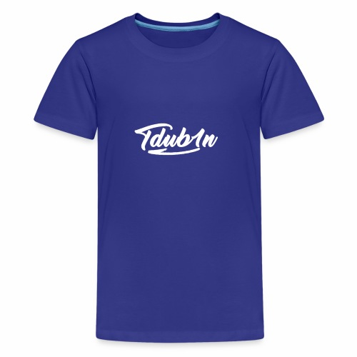 Tdub1n White Logo - Kids' Premium T-Shirt