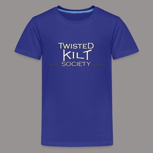 TKS words white - Kids' Premium T-Shirt