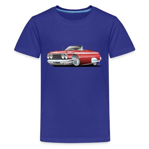 Sixties American Classic Car Convertible Cartoon - Kids' Premium T-Shirt
