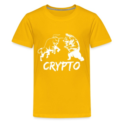 CryptoBattle White - Kids' Premium T-Shirt
