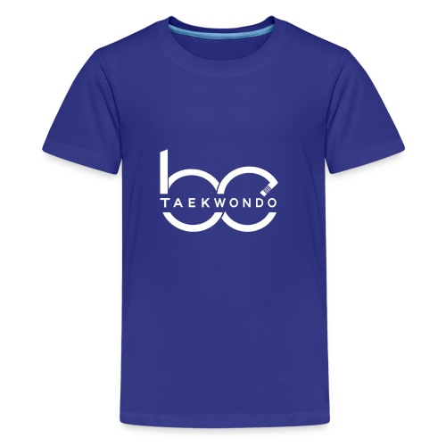Logo emblem WHITE no bg - Kids' Premium T-Shirt