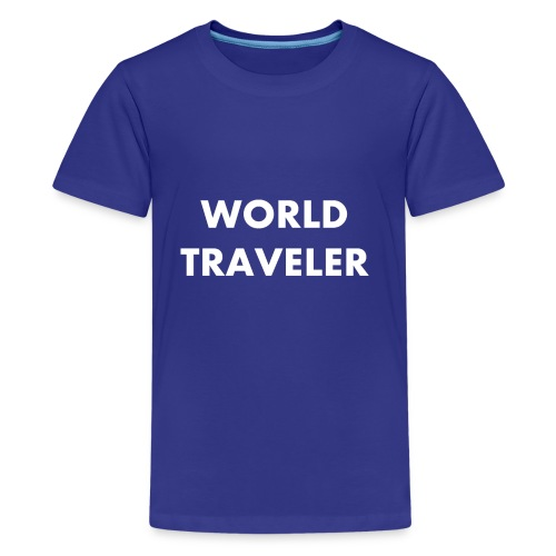 World Traveler White Letters - Kids' Premium T-Shirt