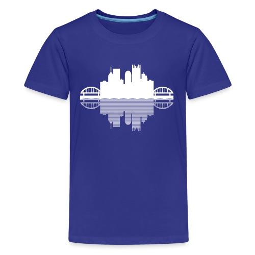 Pittsburgh Skyline Reflection - Kids' Premium T-Shirt