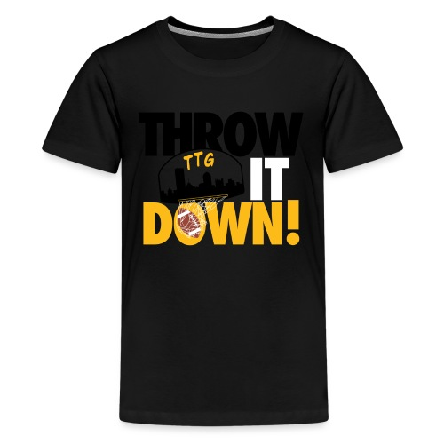 Throw it Down! (Turnover Dunk) - Kids' Premium T-Shirt