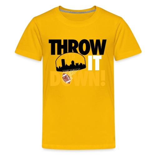 Throw it Down! (Turnover Dunk) - Kids' Premium T-Shirt