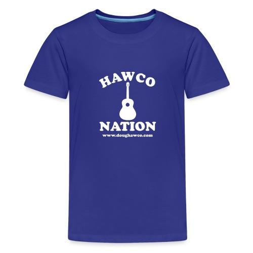 Hawco Nation White Letters - Kids' Premium T-Shirt