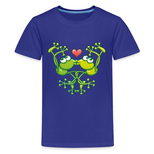 Frogs in love in choreography of jumps and kisses - Kids' Premium T-Shirt