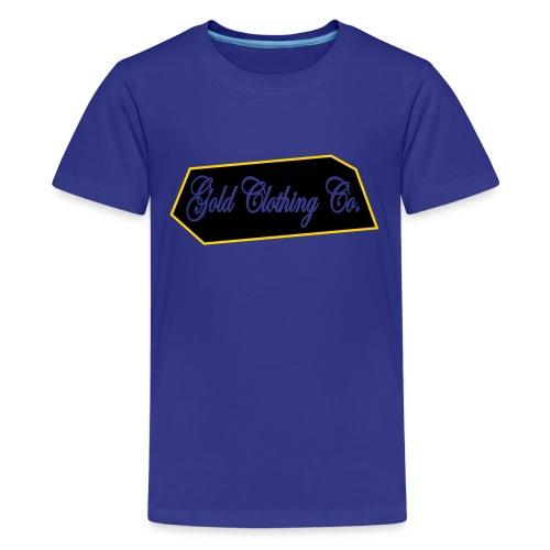 GOLD Clothing Co. Brick Logo - Kids' Premium T-Shirt