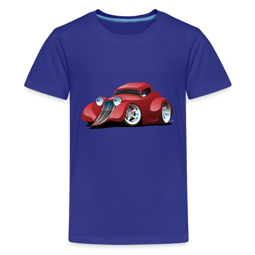Red Hot Rod Restomod Custom Coupe Cartoon - Kids' Premium T-Shirt