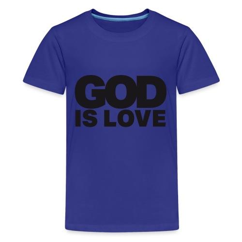 God Is Love - Ivy Design (Black Letters) - Kids' Premium T-Shirt
