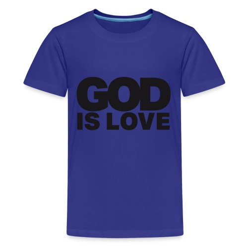 God Is Love - Ivy Design (Black Letters) - Kids' Premium T-Shirt