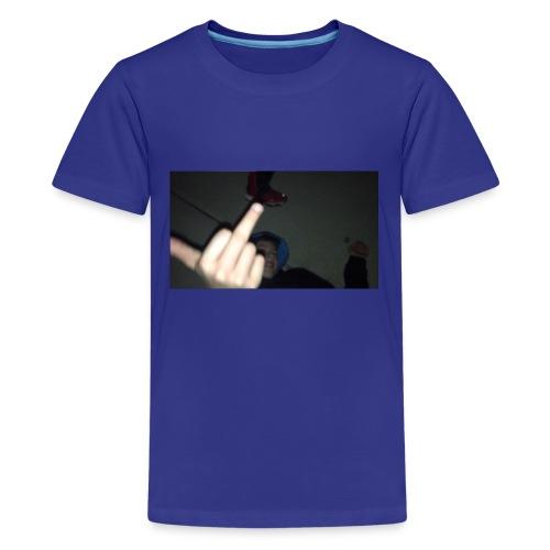hoodlem giving the finger - Kids' Premium T-Shirt