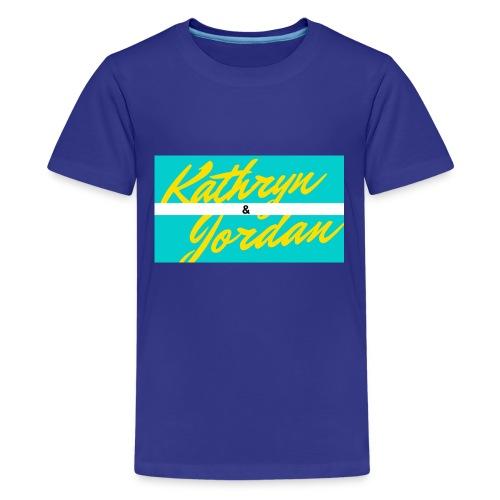 Kathryn and Jordan Logo - Kids' Premium T-Shirt