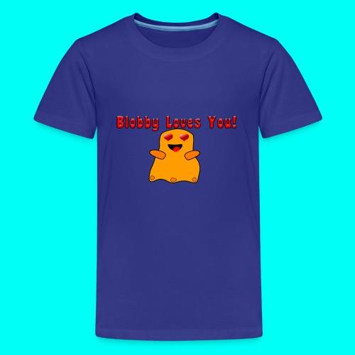 Blobby Loves You Shirt - Kids' Premium T-Shirt
