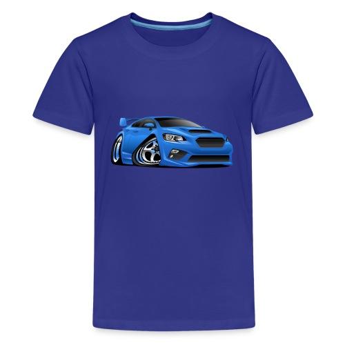 Modern Import Sports Car Cartoon Illustration - Kids' Premium T-Shirt