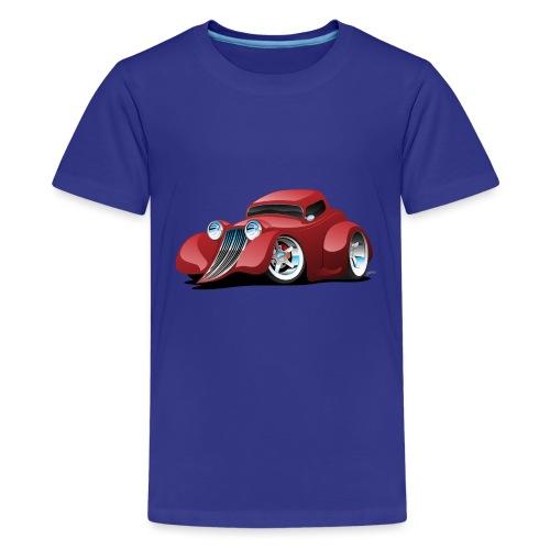 Red Hot Rod Restomod Custom Coupe Cartoon - Kids' Premium T-Shirt