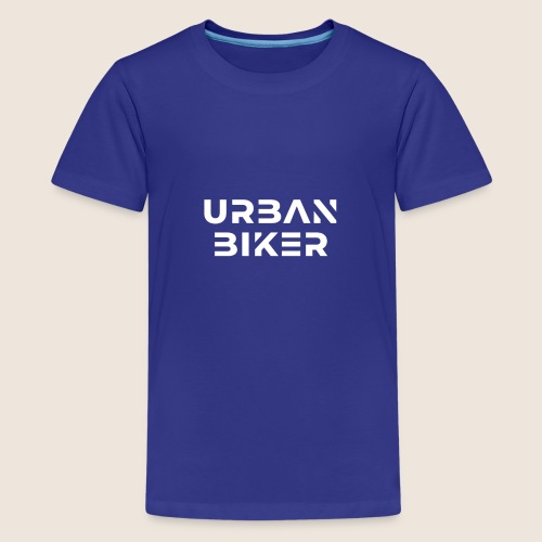Urban Biker White - Kids' Premium T-Shirt