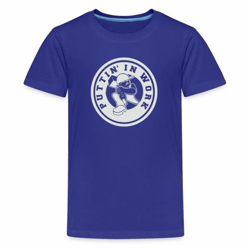 P.I.W White Logo - Kids' Premium T-Shirt