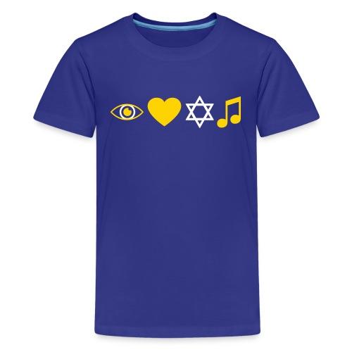 I Love Jewish Music - Kids' Premium T-Shirt