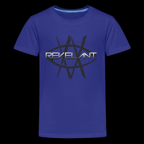 Revelant eye and text logo, black. - Kids' Premium T-Shirt